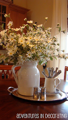 Adventures in decorating come gather at our table for Kitchen table centrepieces