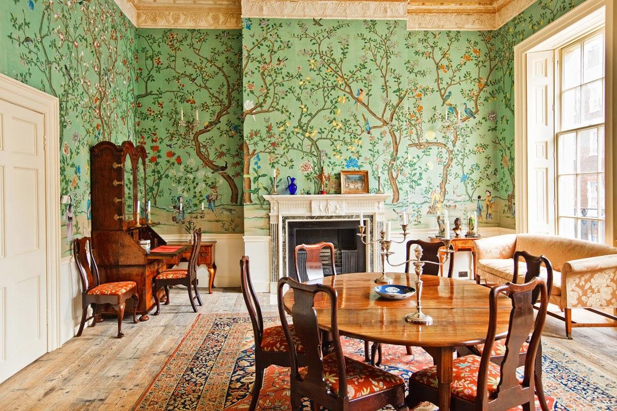 green dining room wallpaper design - photo #29