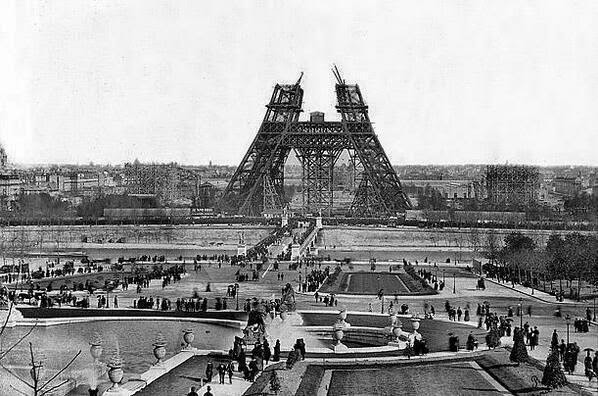 64 Historical Pictures you most likely haven't seen before. # 8 is a bit disturbing! - Eiffel Tower Under Construction. 1880s