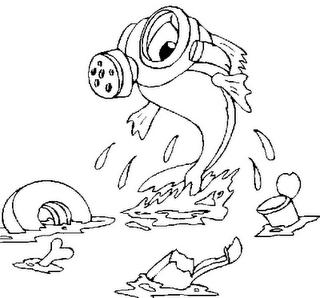 Dibujo de Contaminación marina para Colorear - Dibujos.net