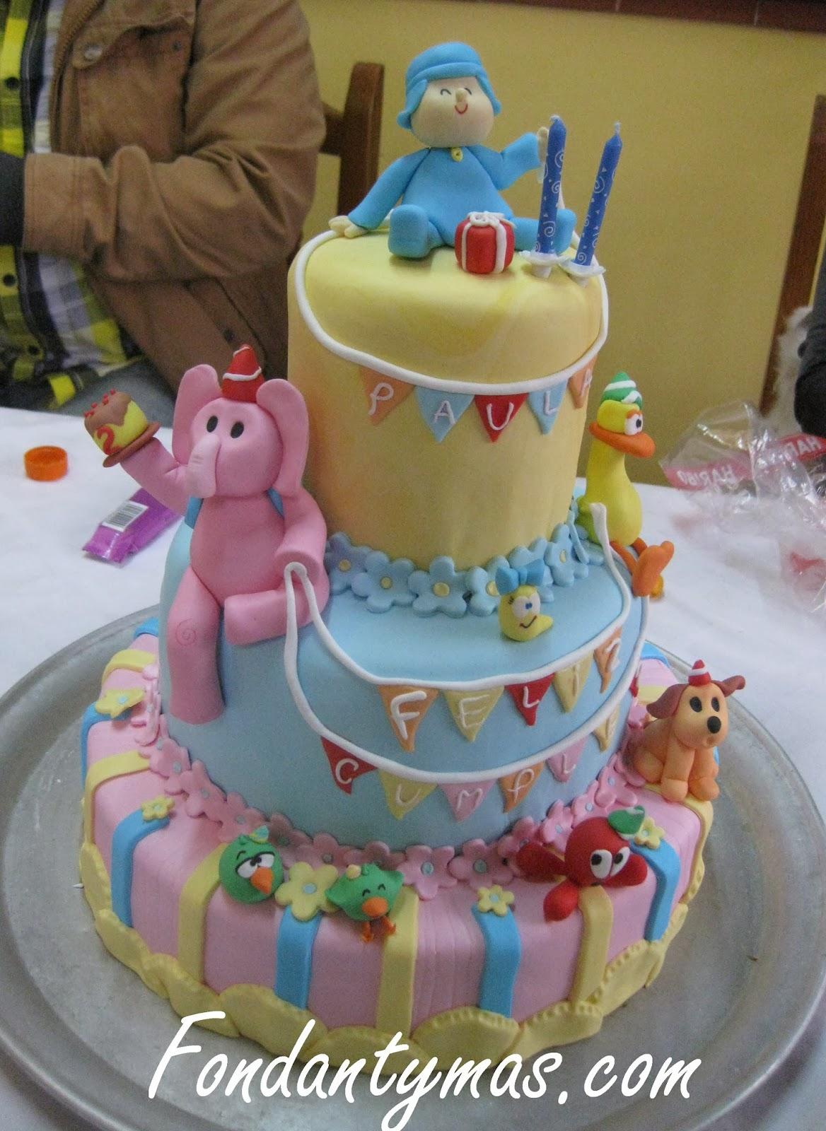 Fondant y m s tarta de pocoy para el cumple de paula 2 - Ideas para cumpleanos 2 anos ...