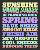 Foråret i få ord