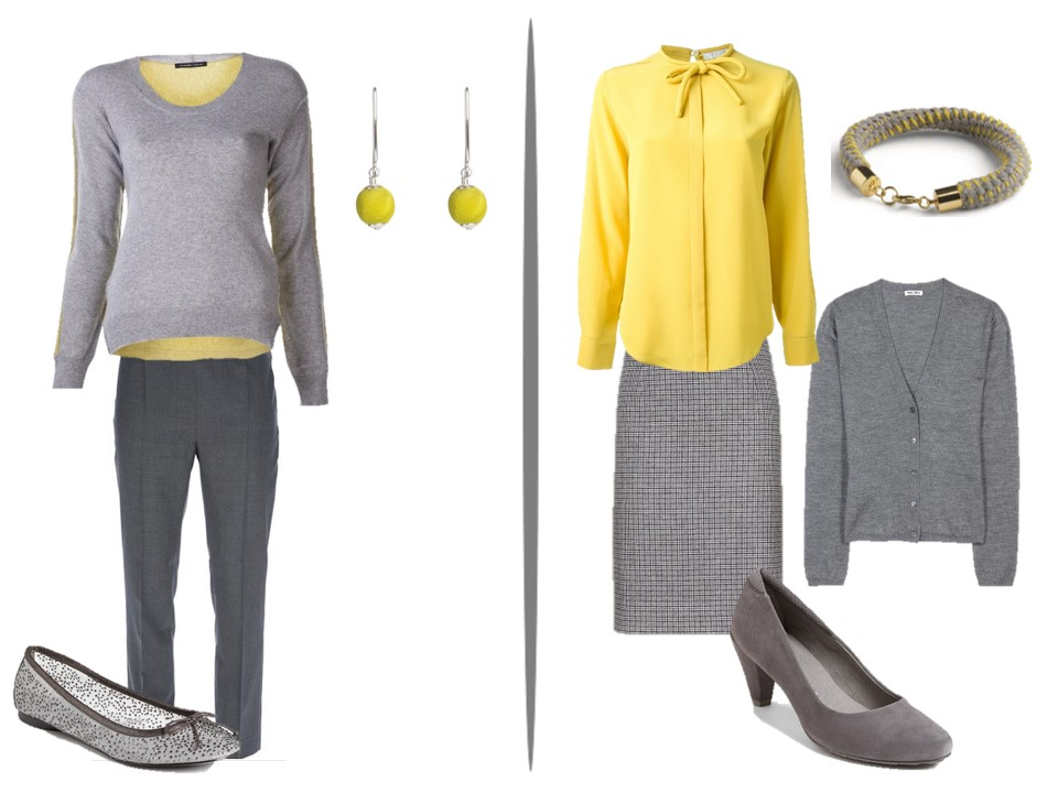 Chic Sightings Grey and Yellow | The Vivienne Files