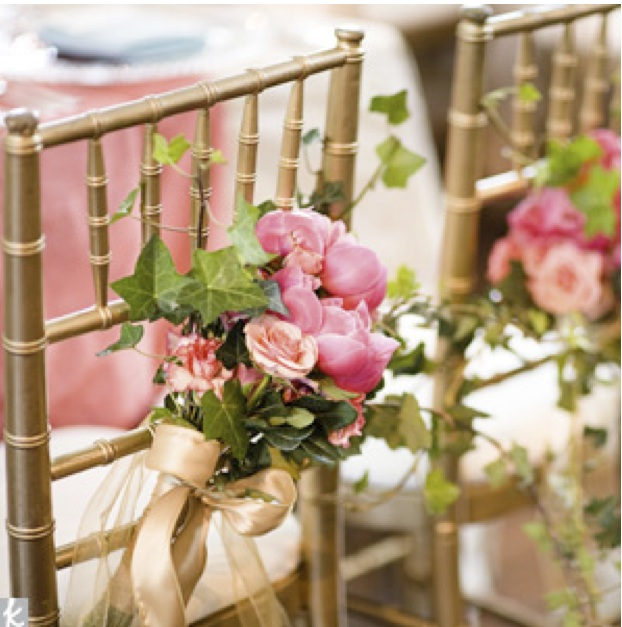 Premium flowers wedding chair decorations for Decorating chairs for wedding reception