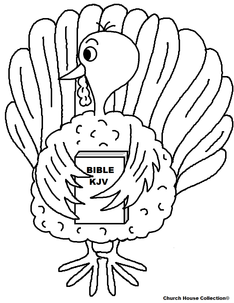 Church house collection blog turkey holding bible for Thanksgiving coloring pages for children s church