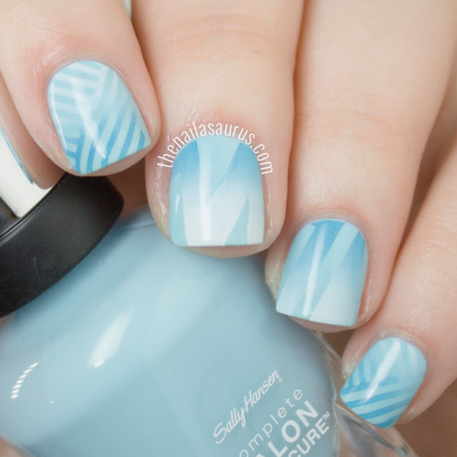 The Nailasaurus Gradient Stamping Nail Art