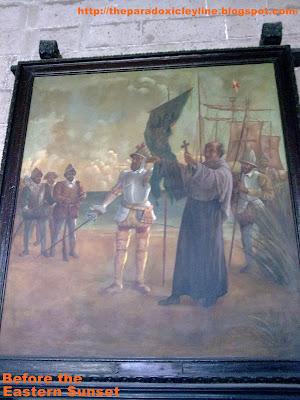 San Agustin Museum: painting of Miguel Lopez de Legazpi's landing