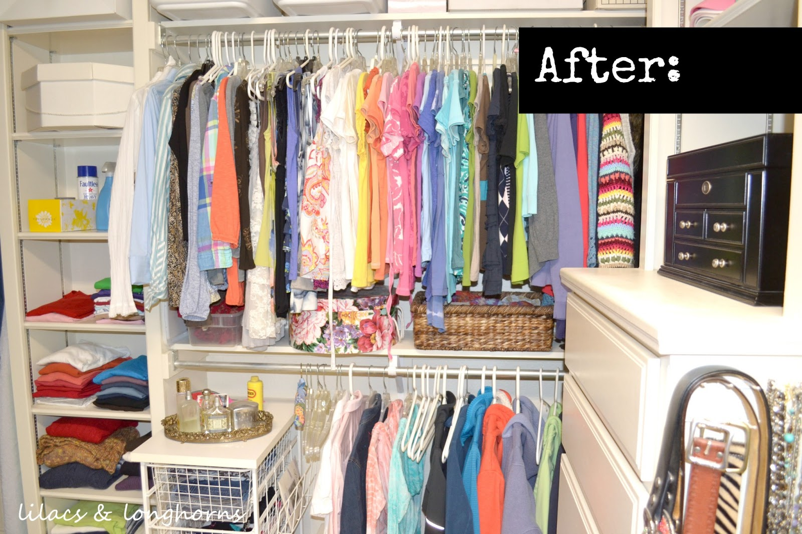 Closet Organizing Tips Revisited Lilacs and Longhorns