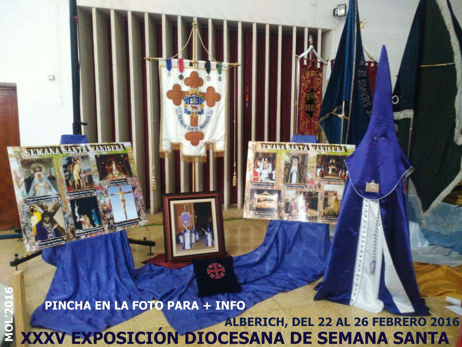 22.02.16 SEMANA SANTA 2016, XXXV EXPOSICIÓN DIOCESANA EN ALBERICH