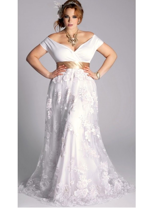 Plus Size Wedding Dresses For Second Marriage