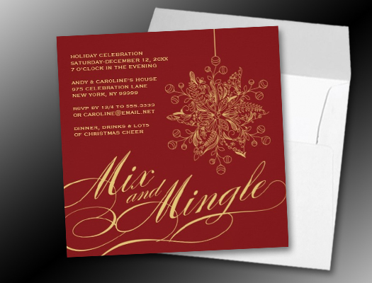 Elegant Mix & Mingle Holiday Party Invitations