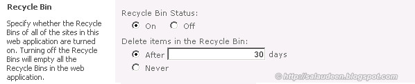 sharepoint recycle bin days