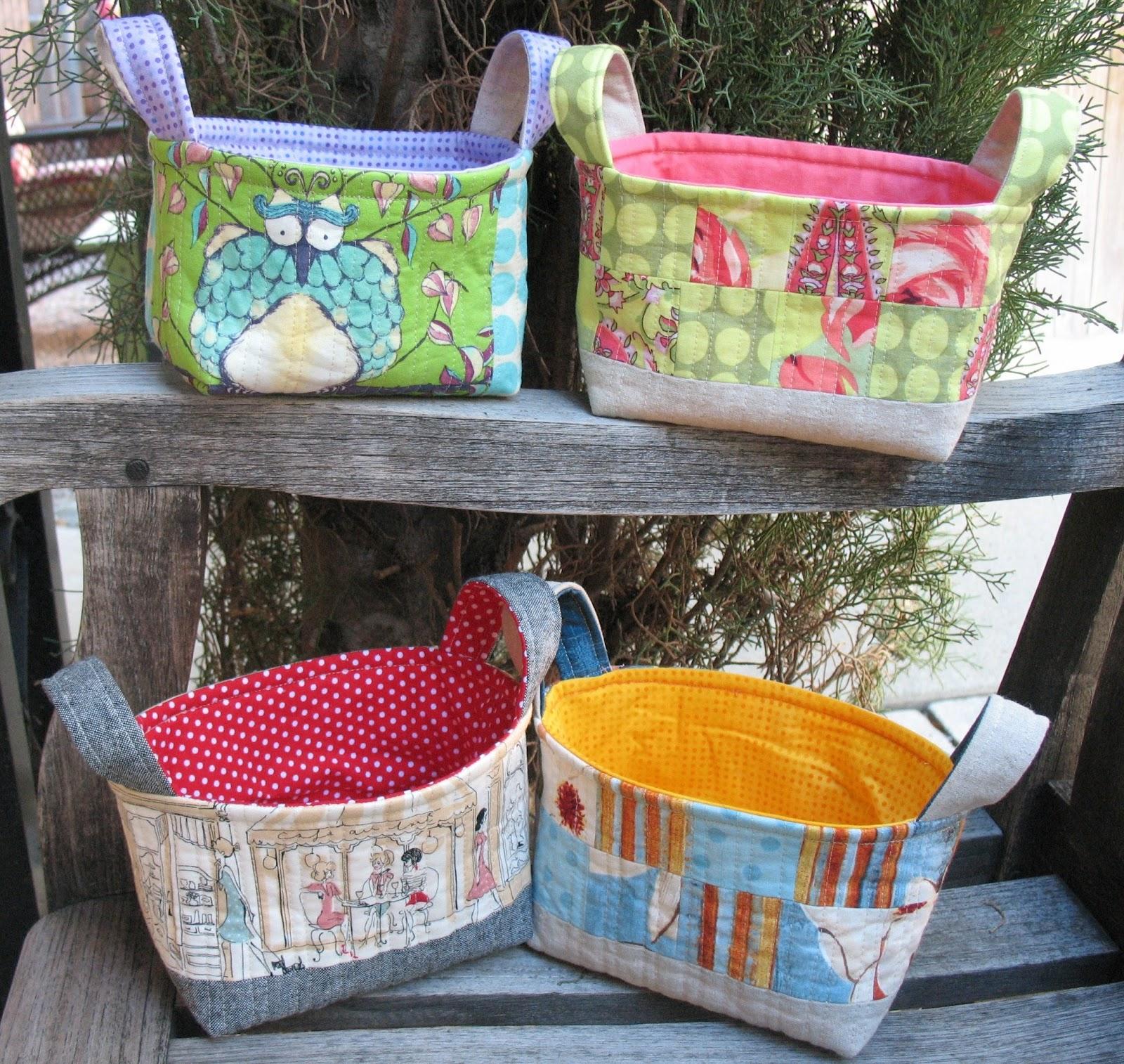 Ye Olde Sweatshop: Quilted Fabric Baskets : quilted basket pattern - Adamdwight.com
