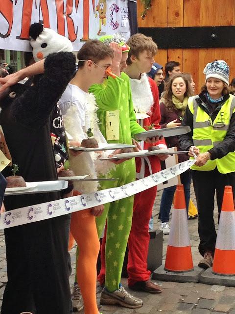Christmas Pudding Race