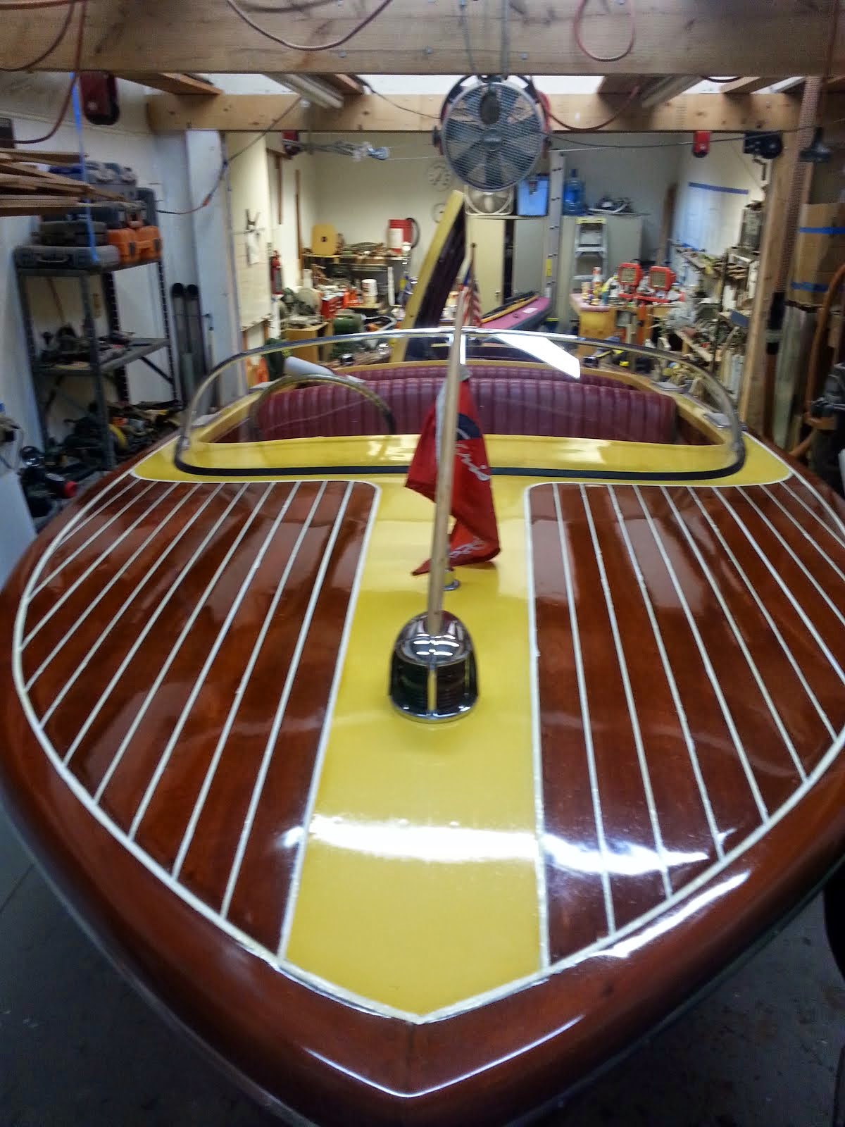 After - 1956 Chris-Craft Capri 19', Deck Varnished w/ 10 Coats