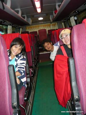 On Phuong Trang bus from Ho Chi Minh city to Dalat