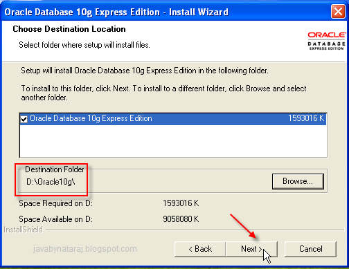 Installing Oracle Database 10g Express Edition_007