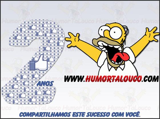 Imagens aniversário blog de Humor - HumorTaLouco 2 Anos - Like - Facebook