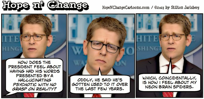 obama, obama jokes, jay carney, south africa, deaf, schizophrenic, tea party, conservative, stilton jarlsberg, hope n' change, hope and change, spokesman, mandela, funeral