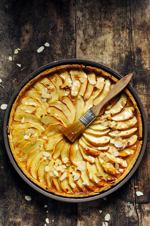 Se souvenir du goût des choses… La tarte aux pommes à la compote pom'pom'pêche !