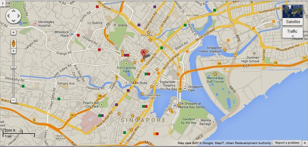 Detail Singapore Art Museum Location Map – Tourist Map Of Singapore City