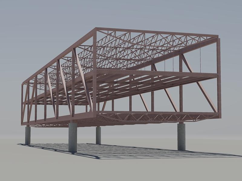 Af arquitectura y mobiliario estructura en acero para un for Estructura arquitectura