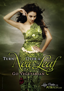 Lara Dutta in PETA Vegetrain Stills