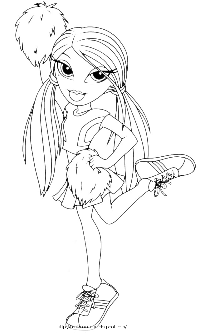 cheerleading coloring pages for grils - photo#10