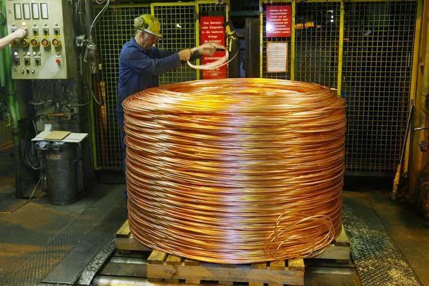 Copper scrap metal at Wilson metal recycling