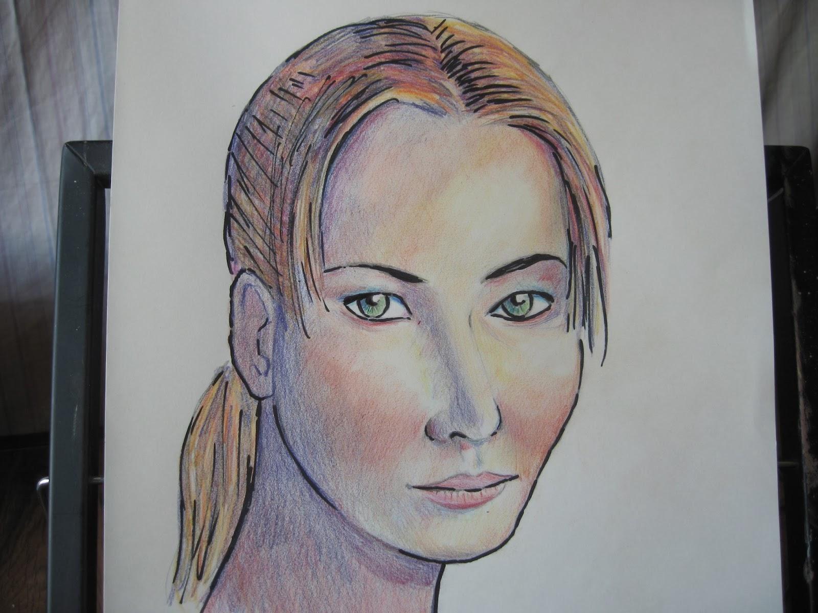 Retratos Con Lápices De Colores