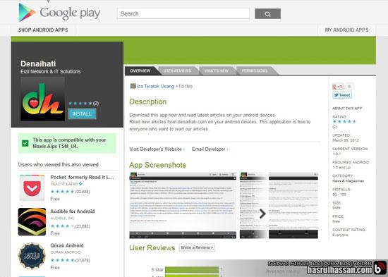 Denaihati.com Menerusi Aplikasi Android Percuma   Google Play