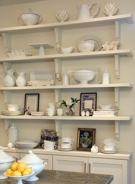 White Wall Display Shelves