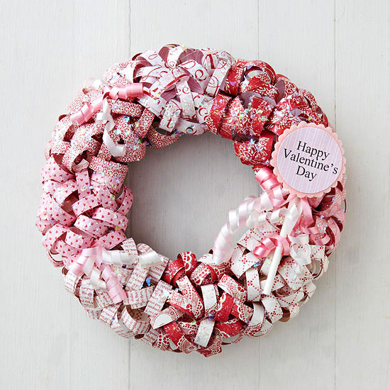 Schön A Wreath Covered With Paper Curls Bursts With Valentineu0027s Day Color And  Spirit. Lovely Over A Mantel Or On A Door, This Valentine Wreath Is Easy To  ...