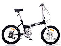 Sepeda Lipat UNITED ROAR 20 Inci - Front and Rear Disc Brake