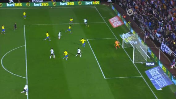 1-0 gol Paco Alcacer Valencia CF - UD Las Palmas