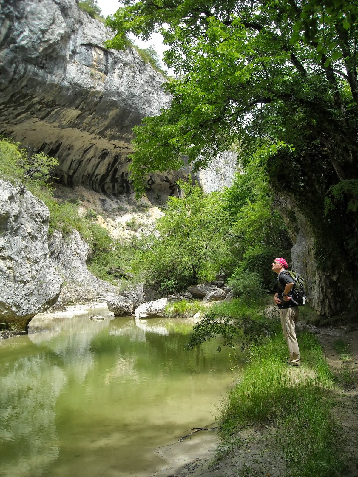 Deep in the gorges of Provence....