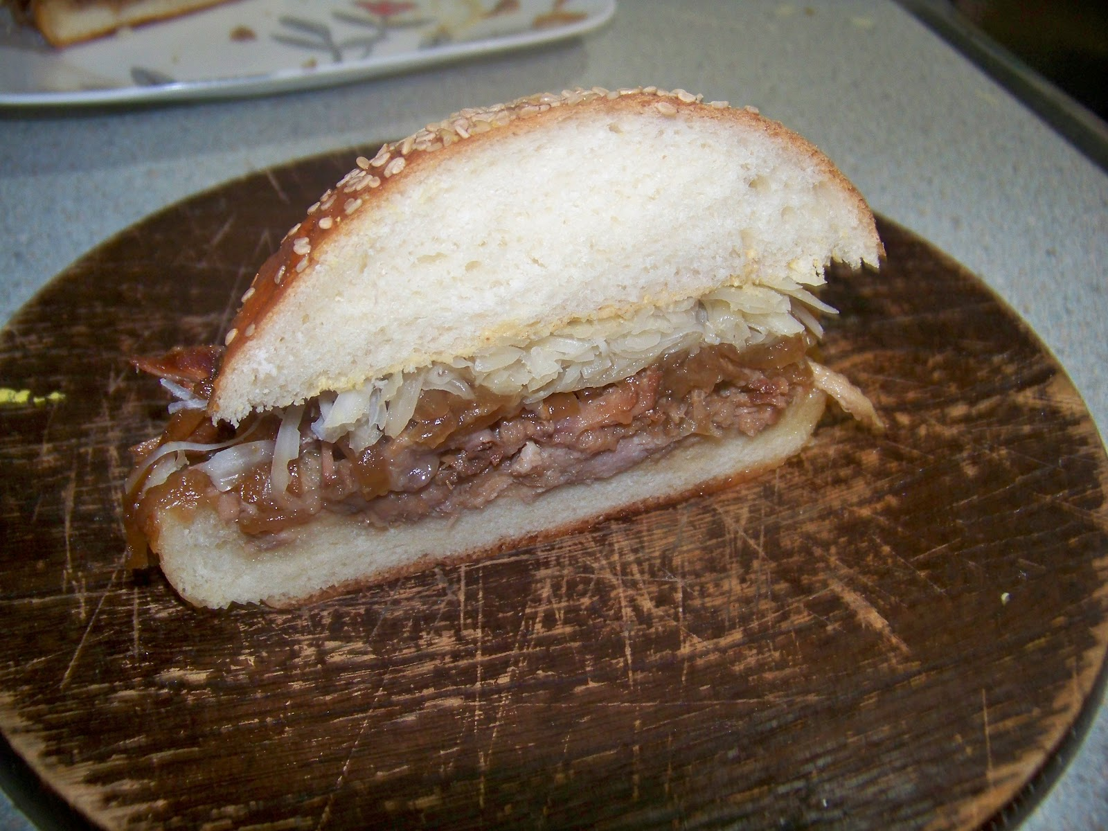 la cuill riste sandwich de pique nique de porc l 39 oignon. Black Bedroom Furniture Sets. Home Design Ideas