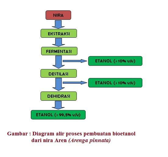 Aren arenga pinnata sebagai sumber energi alternatif diagram alir proses fermentasi nira menjadi etanol 995 dapat dilihat pada gambar di bawah ini ccuart Choice Image