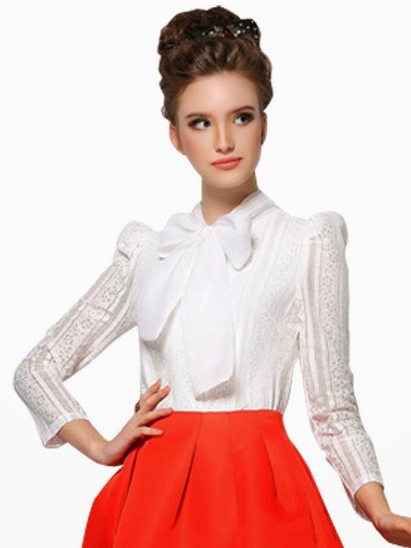 Купить Блузку С Бантом На Шее