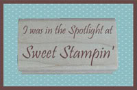 Sweet Stampin' Spotlight Winner