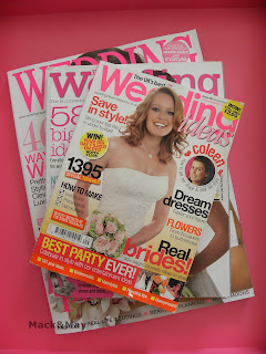 photo of wedding magazines