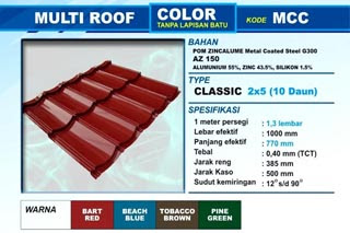 Genteng Metal Multi Roof Color Classic