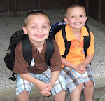 Ryley and Brady on the first day of school