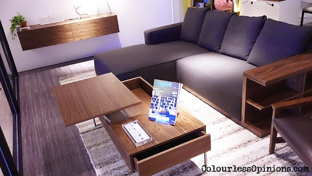 Stanzo Collection Mont Kiara Mall KL Malaysia - L-shape sofa and unusual table