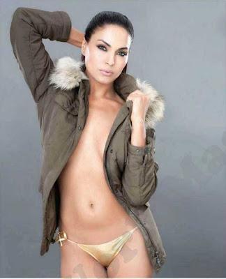 veena-malik-down blouse no bra nip slip