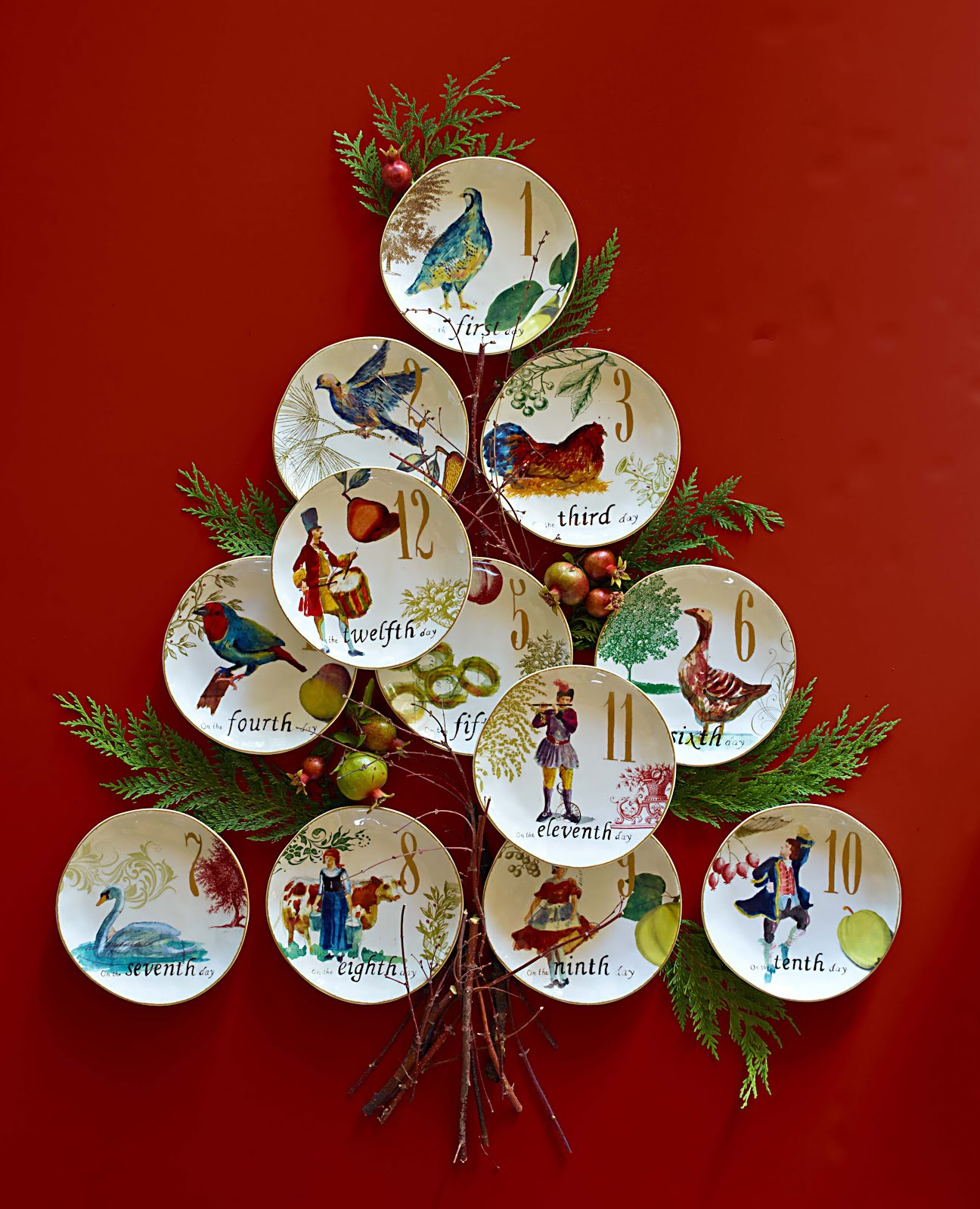 Twelve Days Of Christmas Plates