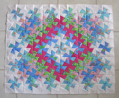 Quilt pieced before borders