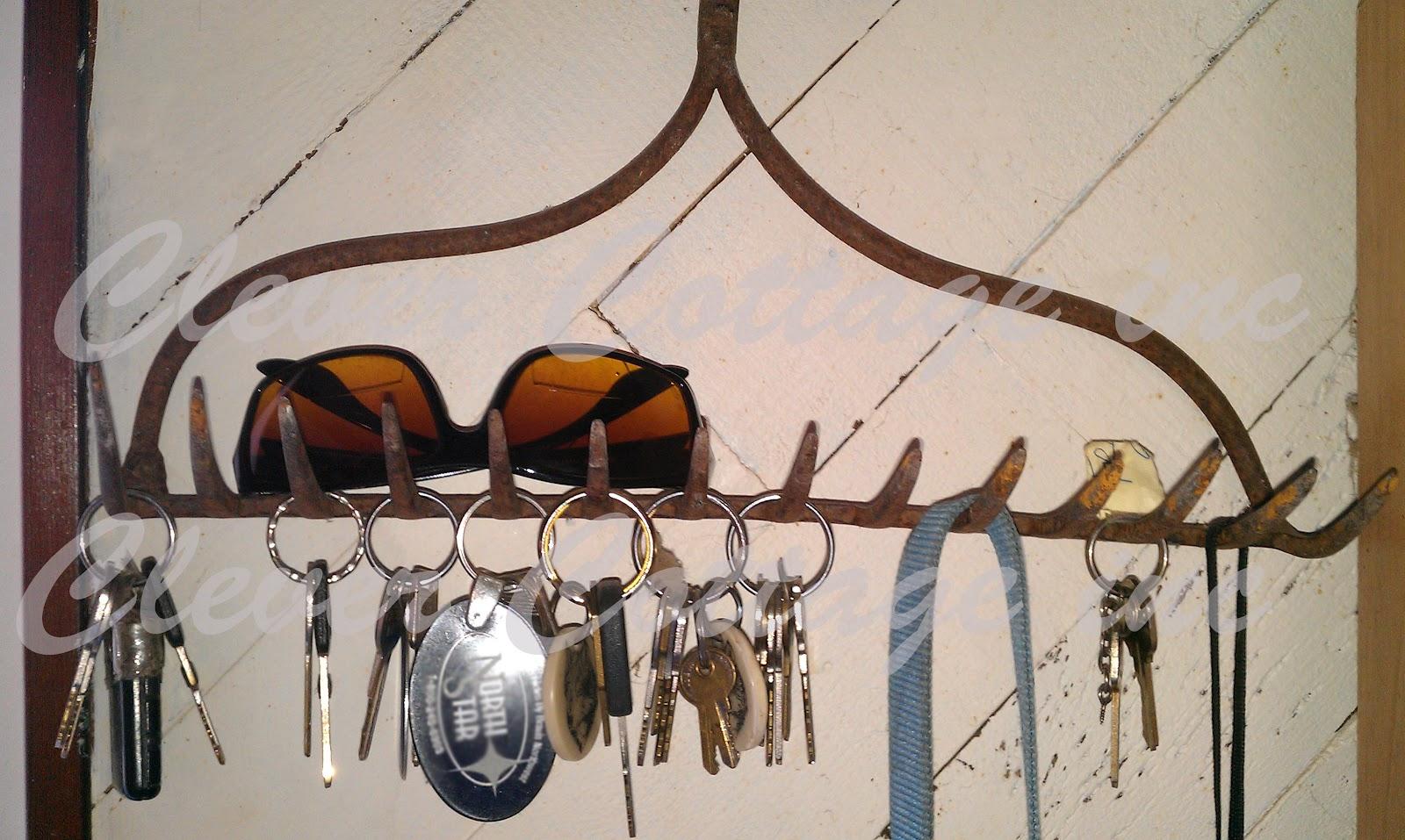 Clever Cottage Inc Farm House Rake Key Rack And Sunglass
