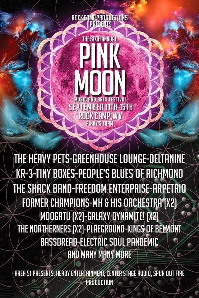 Pink Moon Festival Flyer