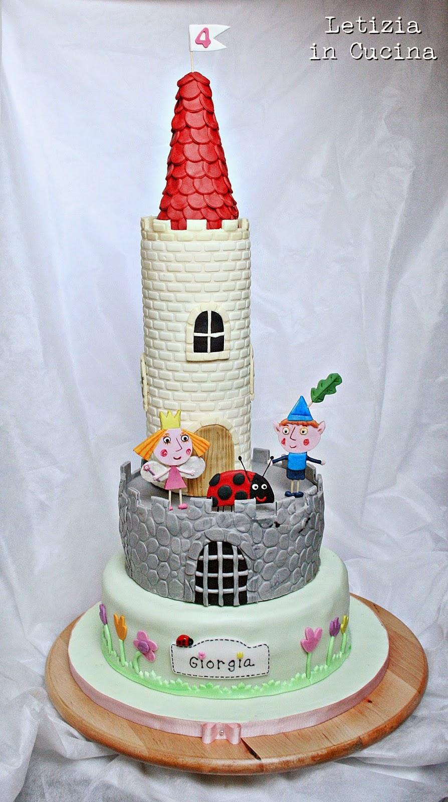 Letizia in Cucina: Ben & Holly Cake - Torta 4° Compleanno Giorgia